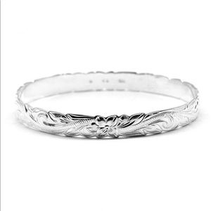 Jewelry - 🆕Hawaiian 925 Plumeria Bracelet 8mm